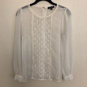 Top Shop Romantic Silk Blouse